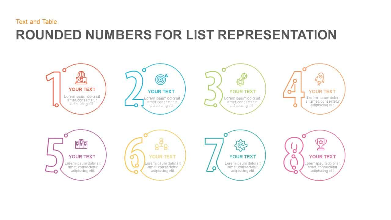 Rounded numbers for list representation powerpoint template toneelgroepblik Image collections
