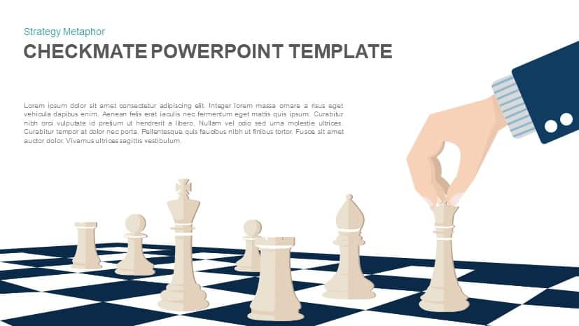 Checkmate PowerPoint Template - Strategy Vector Illustration