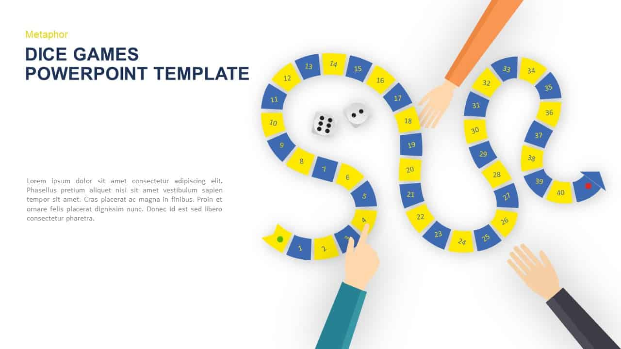 Dice Games PowerPoint Template and Keynote