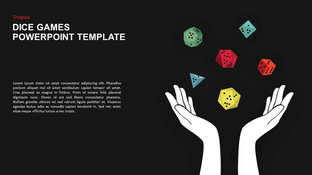 Dice Gaming Powerpoint Template And Keynote Slide Slidebazaar