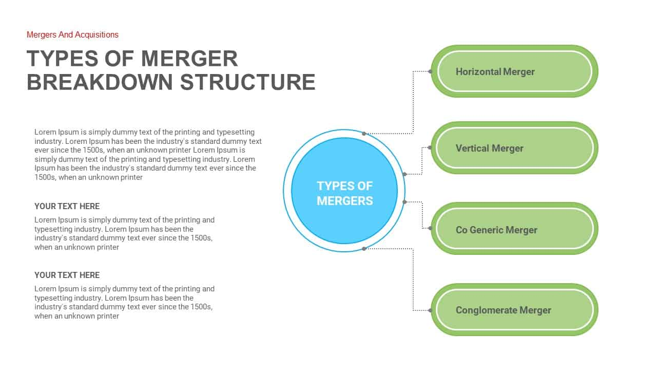 Merger and Acquisition ppt PowerPoint Template