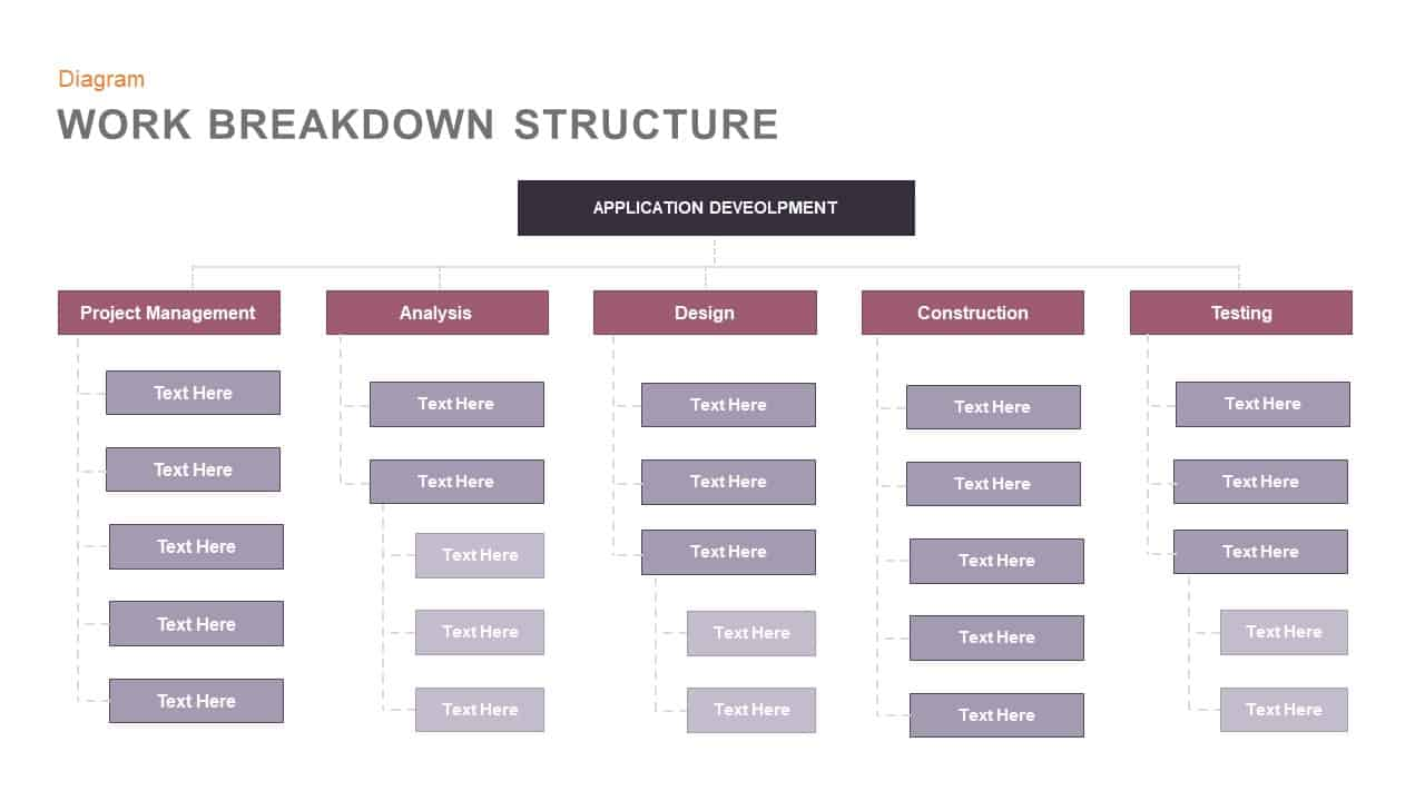 Work Breakdown Structure Template For Powerpoint And Keynote