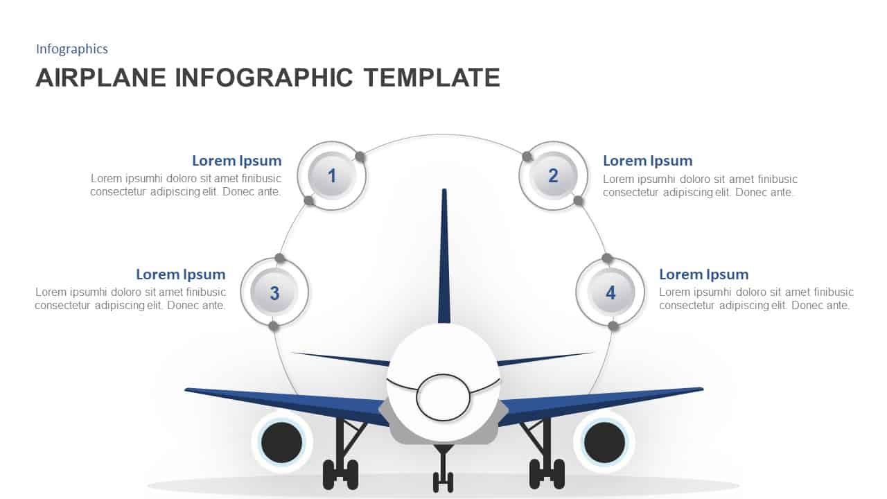 Airplane Powerpoint Template And Keynote For Infographic