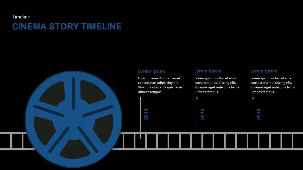 Cinema Story Timeline PowerPoint Template