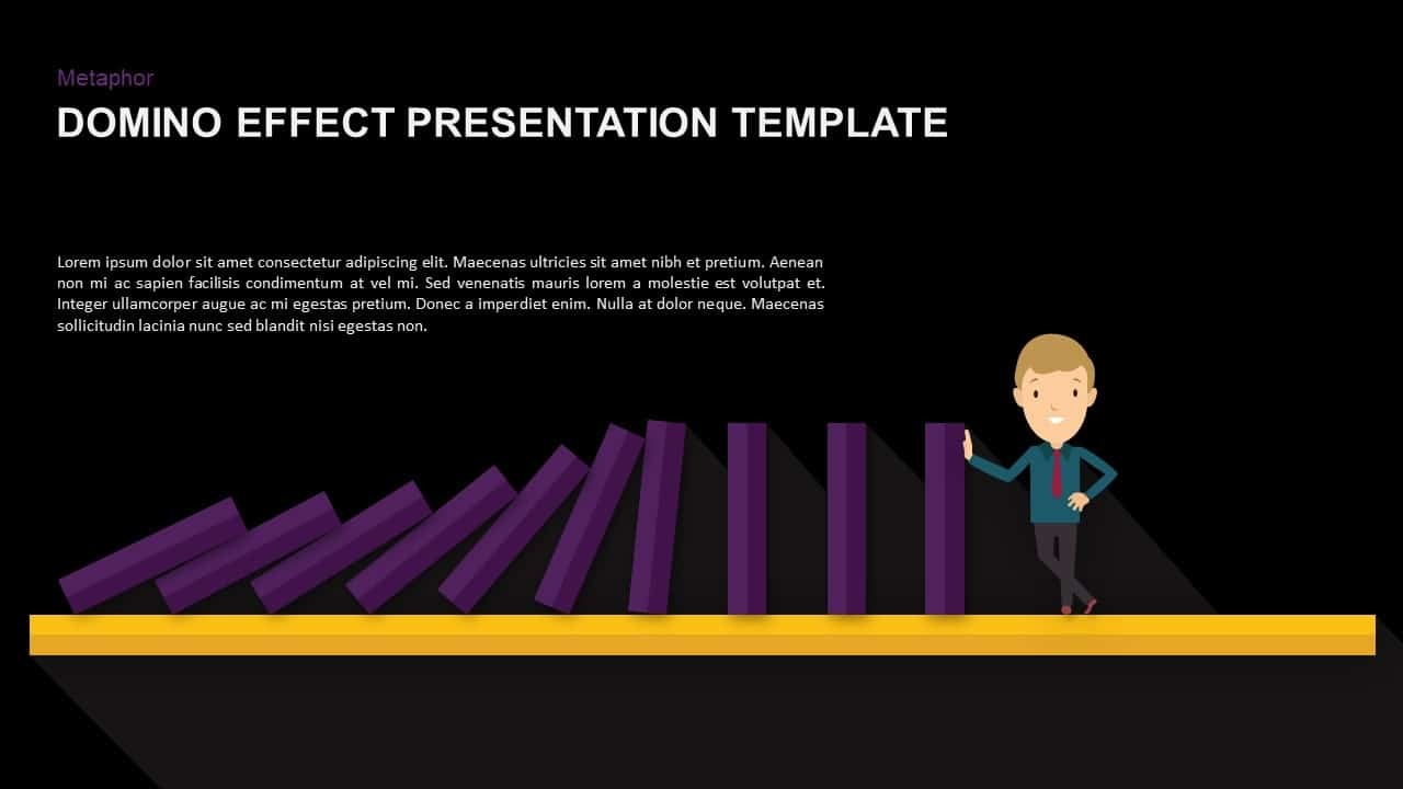 Domino Effect Powerpoint Template