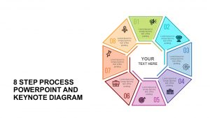 8 Step Process Diagram Template for PowerPoint and Keynote