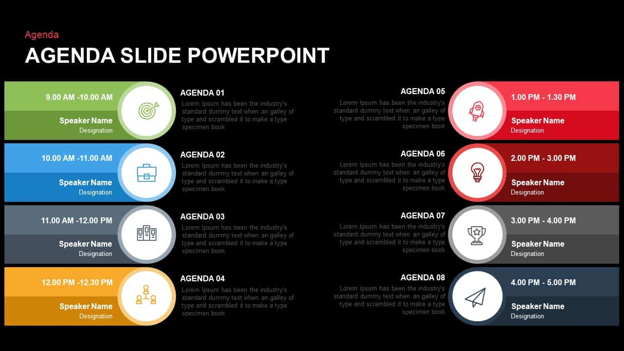 Agenda Slide PowerPoint and Keynote
