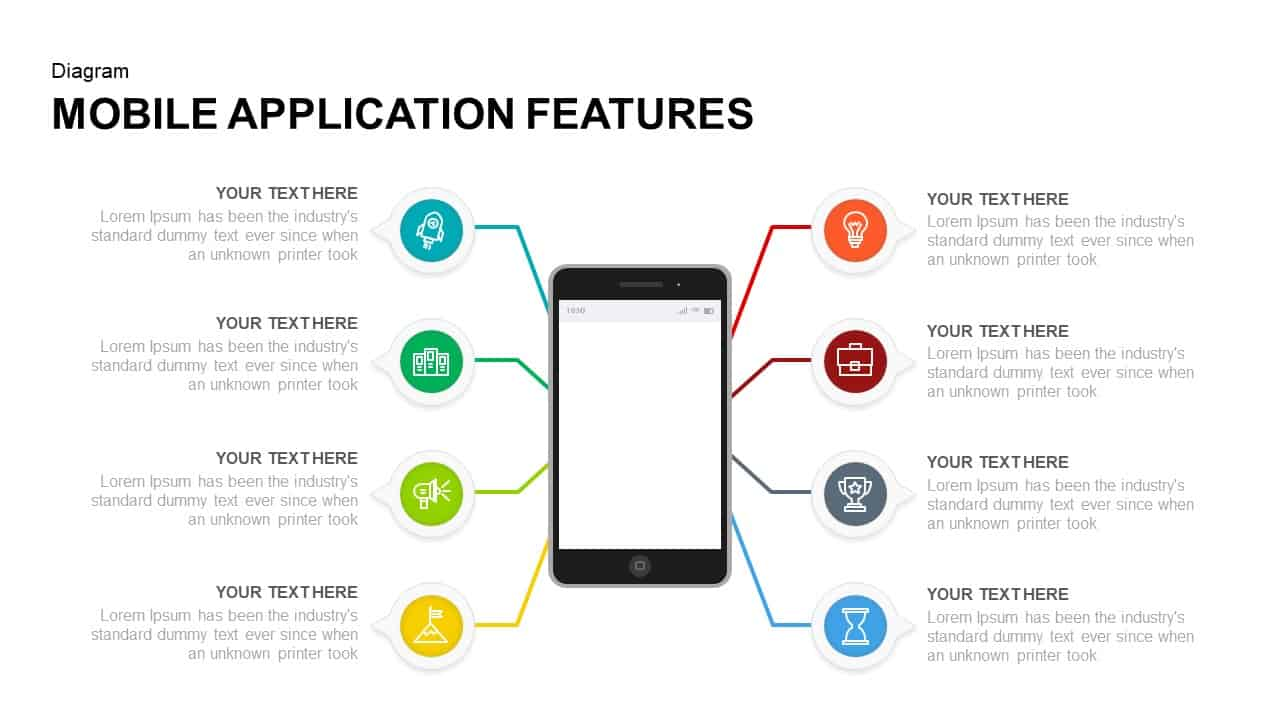 mobile application features powerpoint presentation template