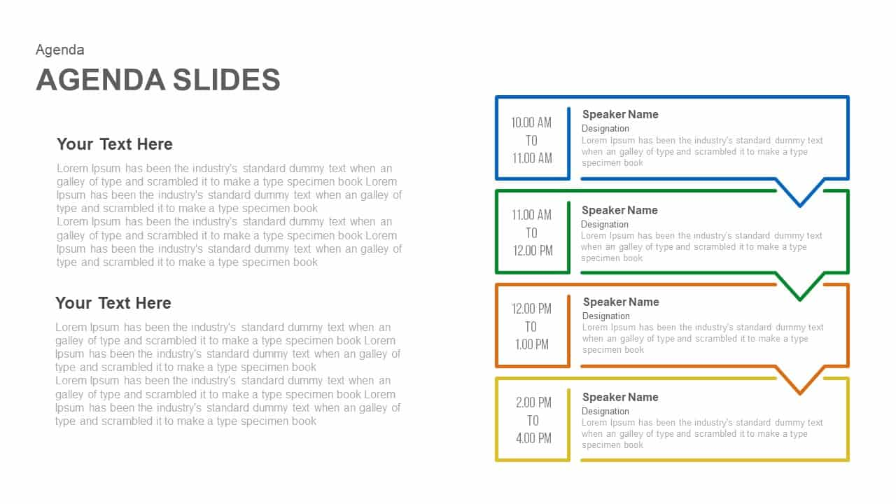 Business agenda powerpoint template and keynote slide