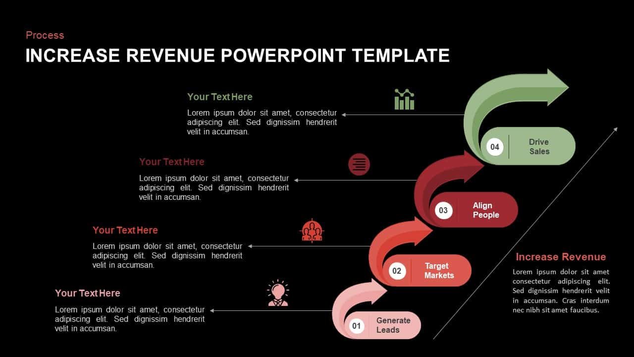 Increase Revenue PowerPoint Template and Keynote Slide