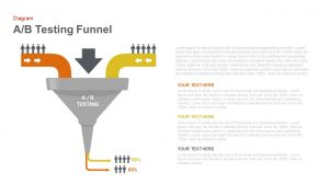 A/B Testing Funnel PowerPoint Template and Keynote Slide