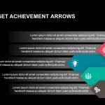 Sales target achievement arrows powerpoint template and keynote slide