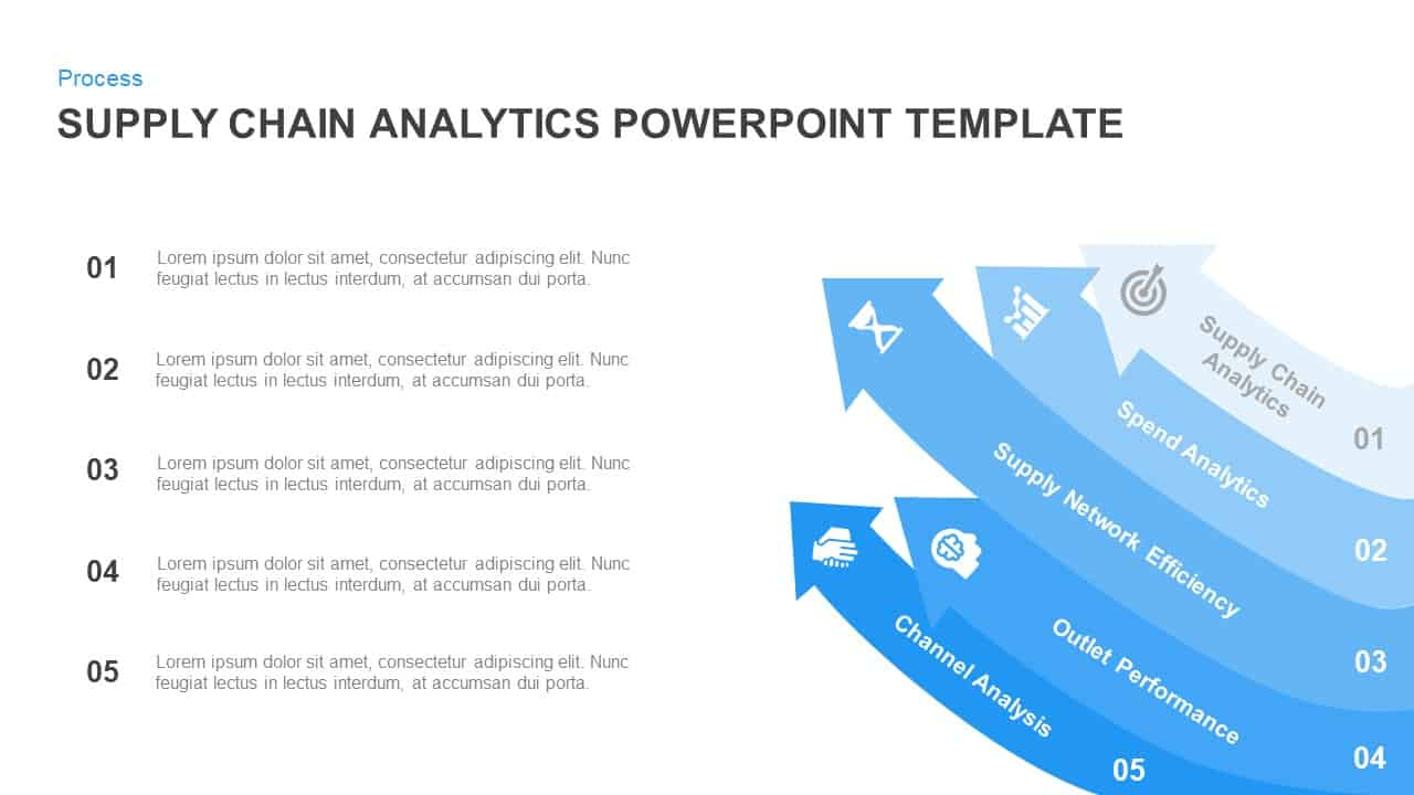 Supply chain analytics template for powerpoint and keynote