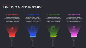 Highlight PowerPoint Templates and Keynote Slide for Business Section