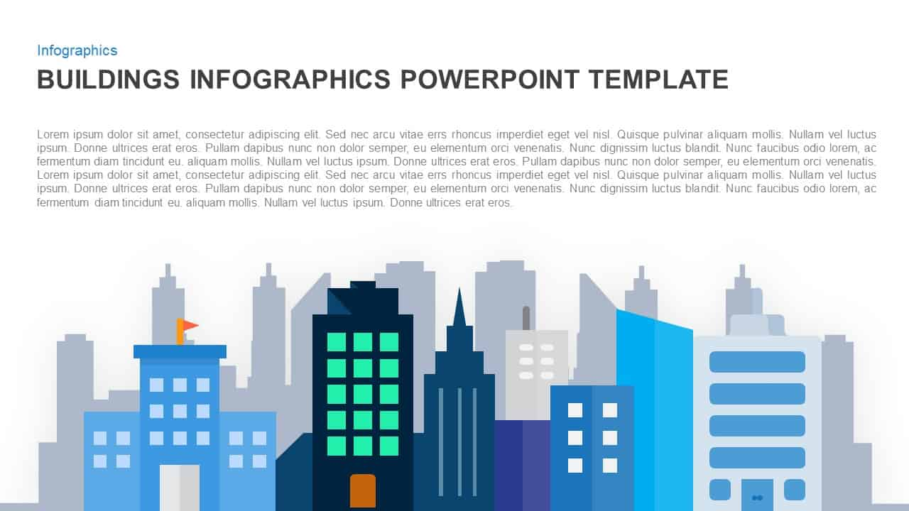Infographics building PowerPoint template and Keynote