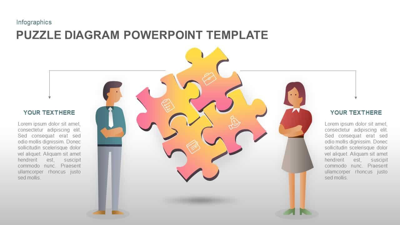 Puzzle PowerPoint template diagram