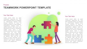 Teamwork Puzzle PowerPoint Template and Keynote Slide