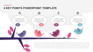 4 Key Points PowerPoint Template and Keynote Slide