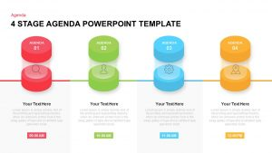 4 Stage Agenda Template for PowerPoint and Keynote