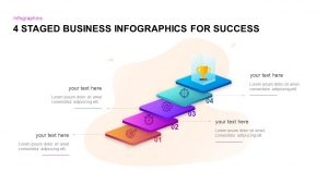 4 Staged Business Infographics For Success PowerPoint Template and Keynote Slide