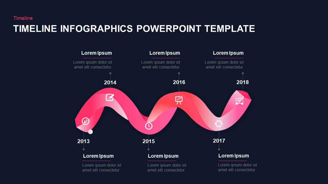Six Stages Timeline Template for PowerPoint and Keynote