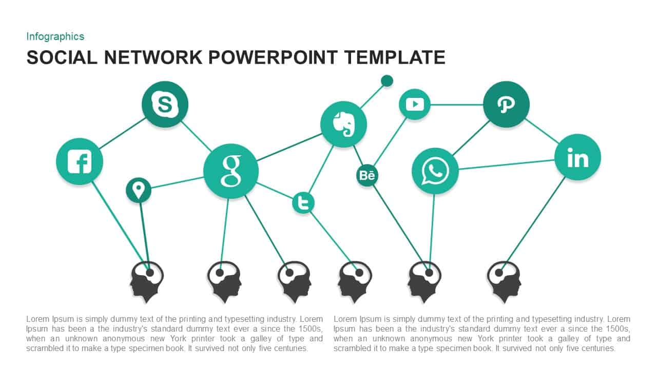 Social network PowerPoint template and keynote