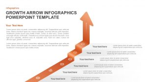 Growth Infographic Arrow PowerPoint Template and Keynote Slide