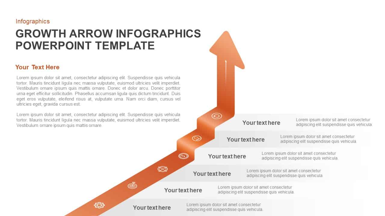 growth arrow PowerPoint template and keynote