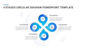 4 & 5 Step Circular Diagram Template for PowerPoint & Keynote