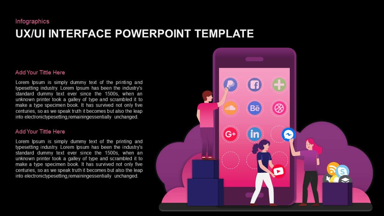 User experience (UX) PowerPoint template and Keynote
