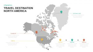North America: Travel Destination Template for PowerPoint and Keynote
