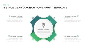 4 Step Process Gear PowerPoint & Keynote Diagram