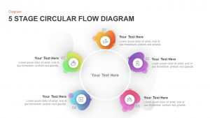 5 Stage Circular Flow Diagram Template for PowerPoint & Keynote
