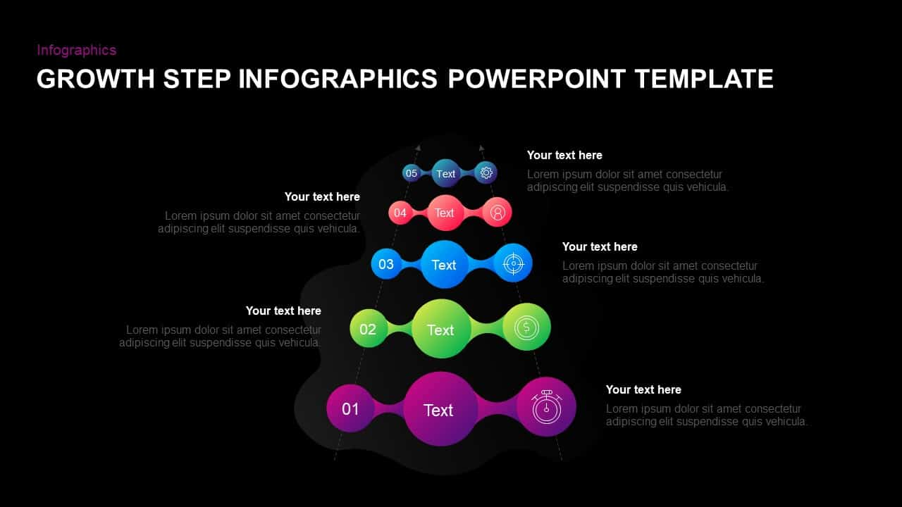 5 Step Growth Concept Infographic PowerPoint Template