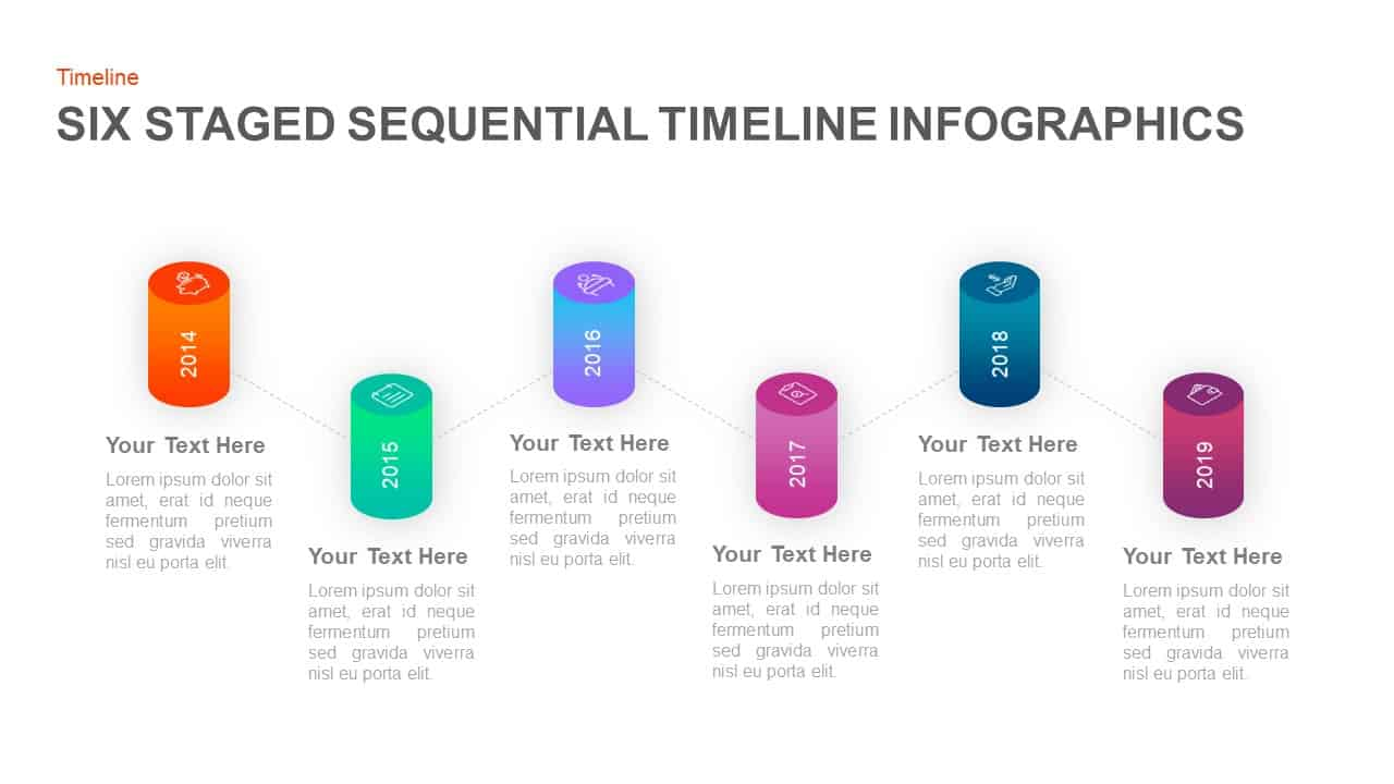 Sequential Timeline Template for PowerPoint