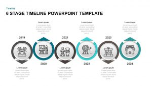 6 Step Timeline PowerPoint Template & Keynote Diagram
