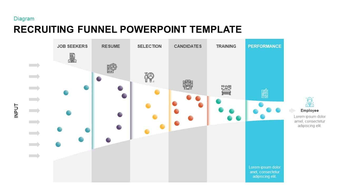Animated Recruiting Funnel PowerPoint Diagram