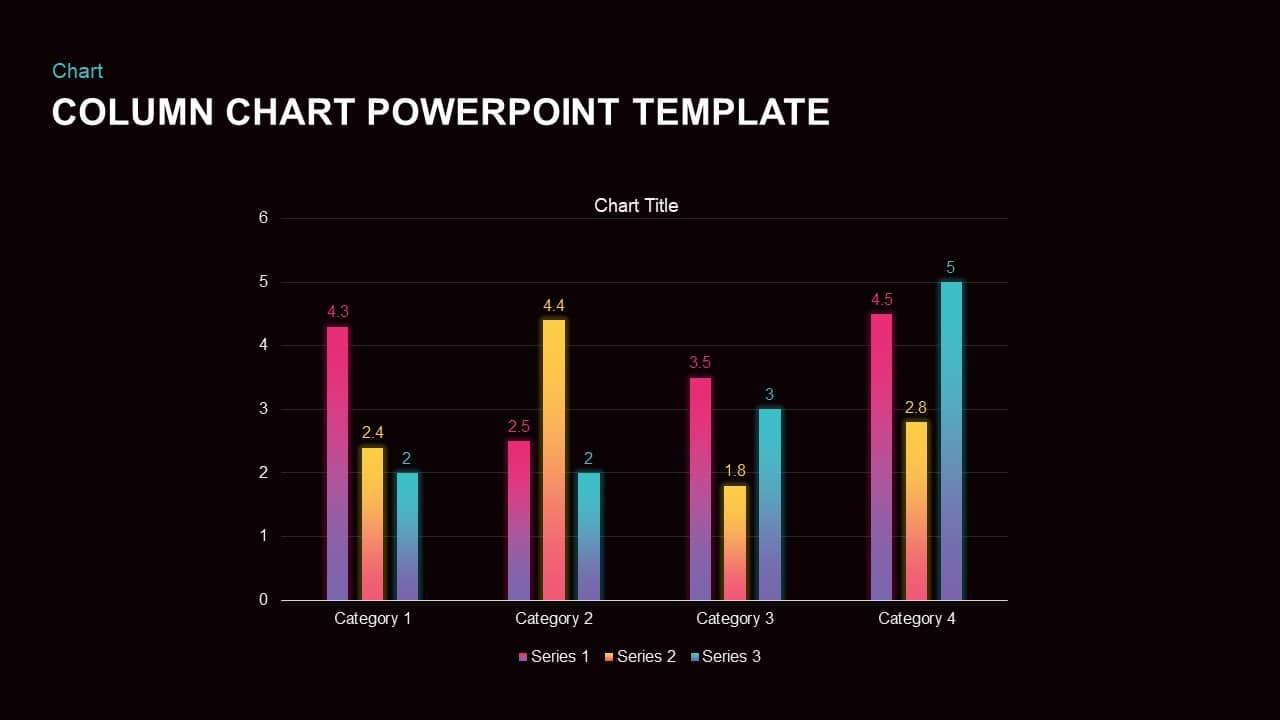 Column chart PowerPoint template