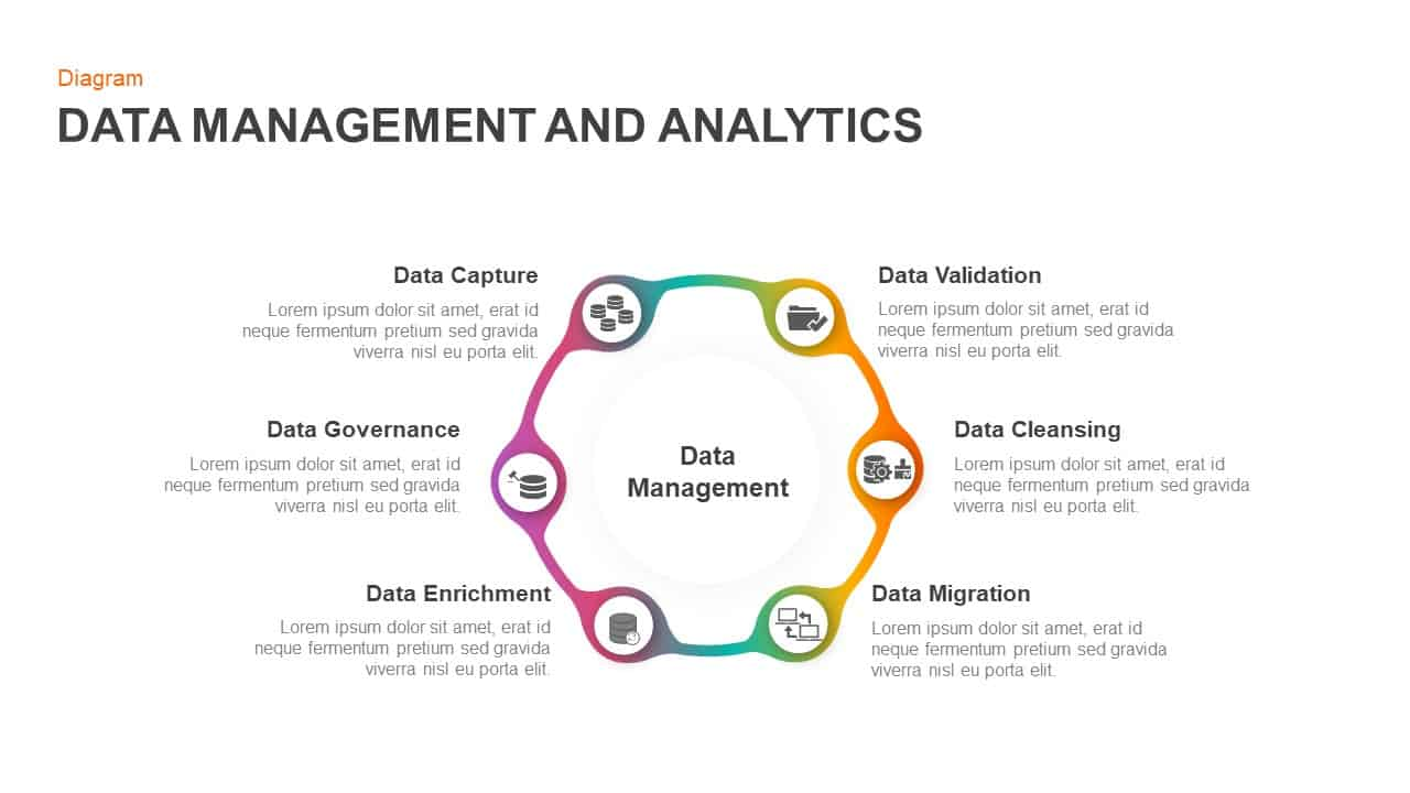 Data management and analytics PowerPoint template