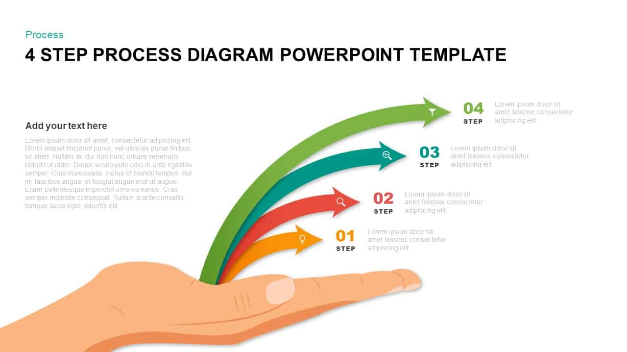 4 Step Process Diagram PowerPoint Template
