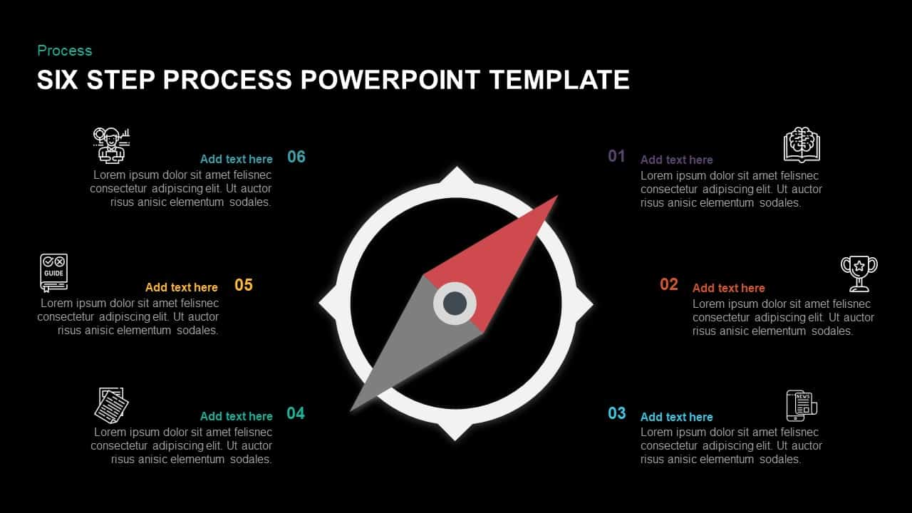 6 Step Process Template for PowerPoint