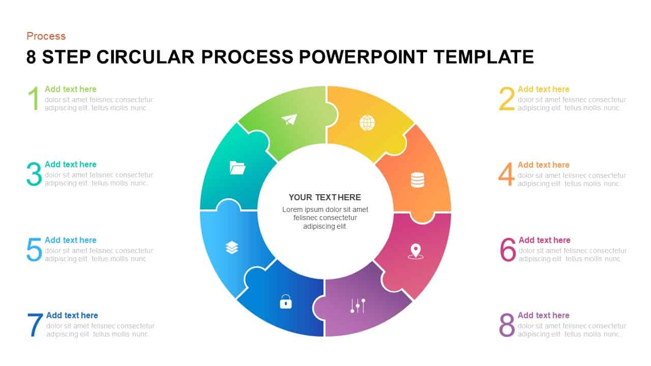 8 step circular process PowerPoint template