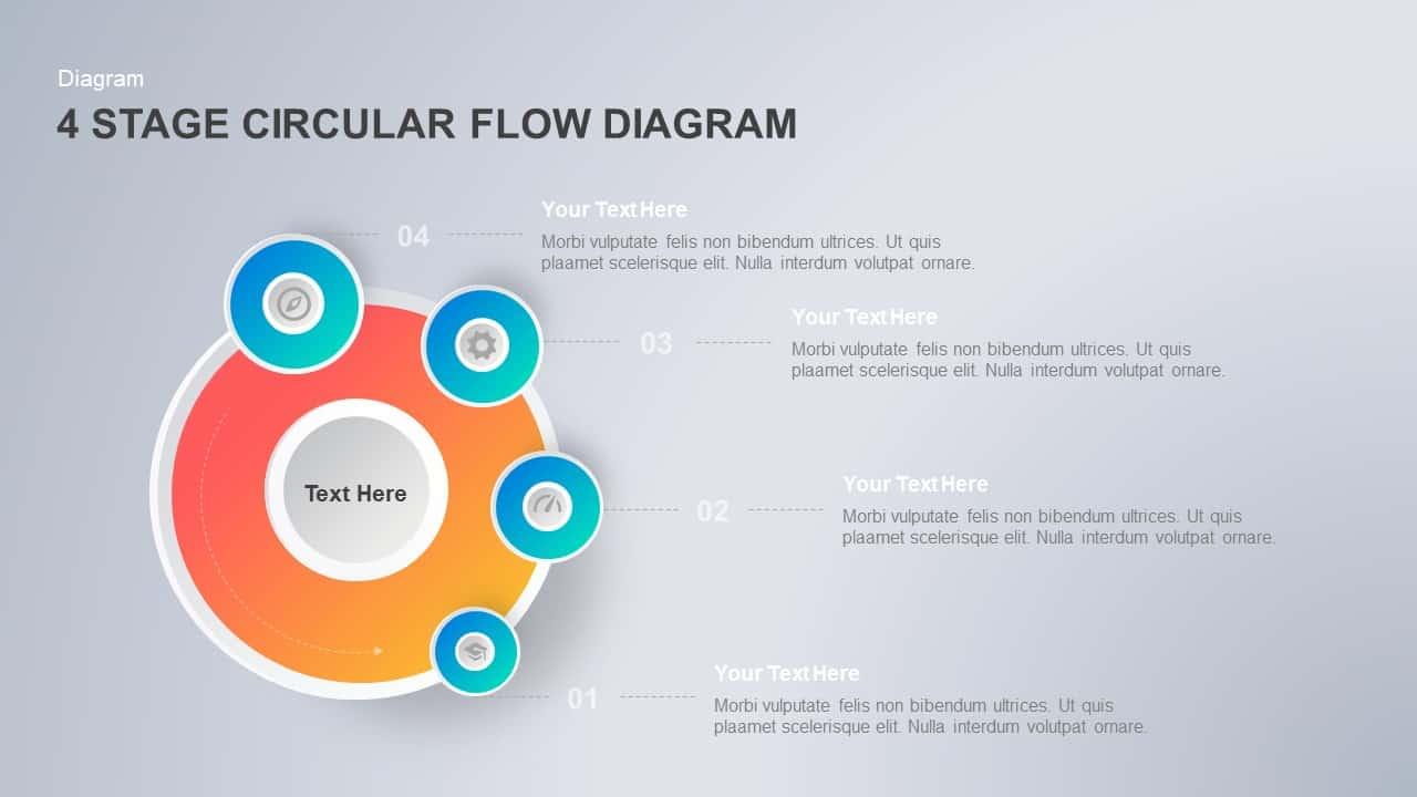Circular Flow Diagram PowerPoint Template