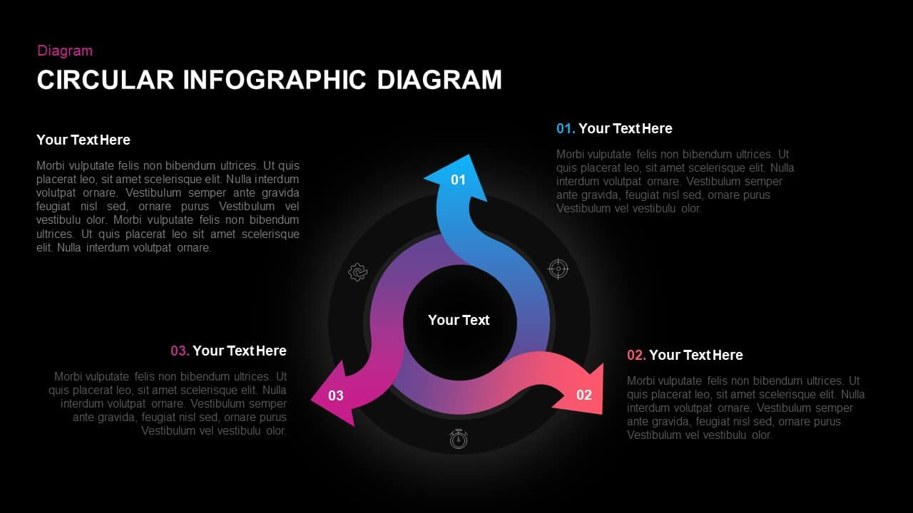 Infographic Circular Diagram Template for PowerPoint