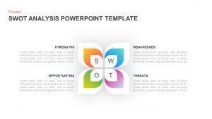 SWOT Analysis Diagram Template for PowerPoint & Keynote