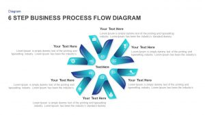 6 Step Business Process Flow Diagram Template for PowerPoint & Keynote