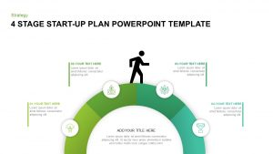 4 Stage Startup Plan Template for PowerPoint & Keynote