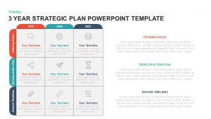 3 Year Strategic Plan Template for PowerPoint & Keynote