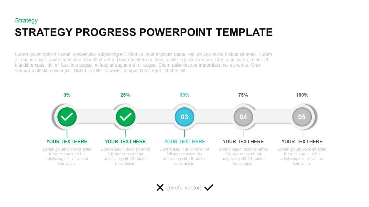Strategy Progress PowerPoint Template