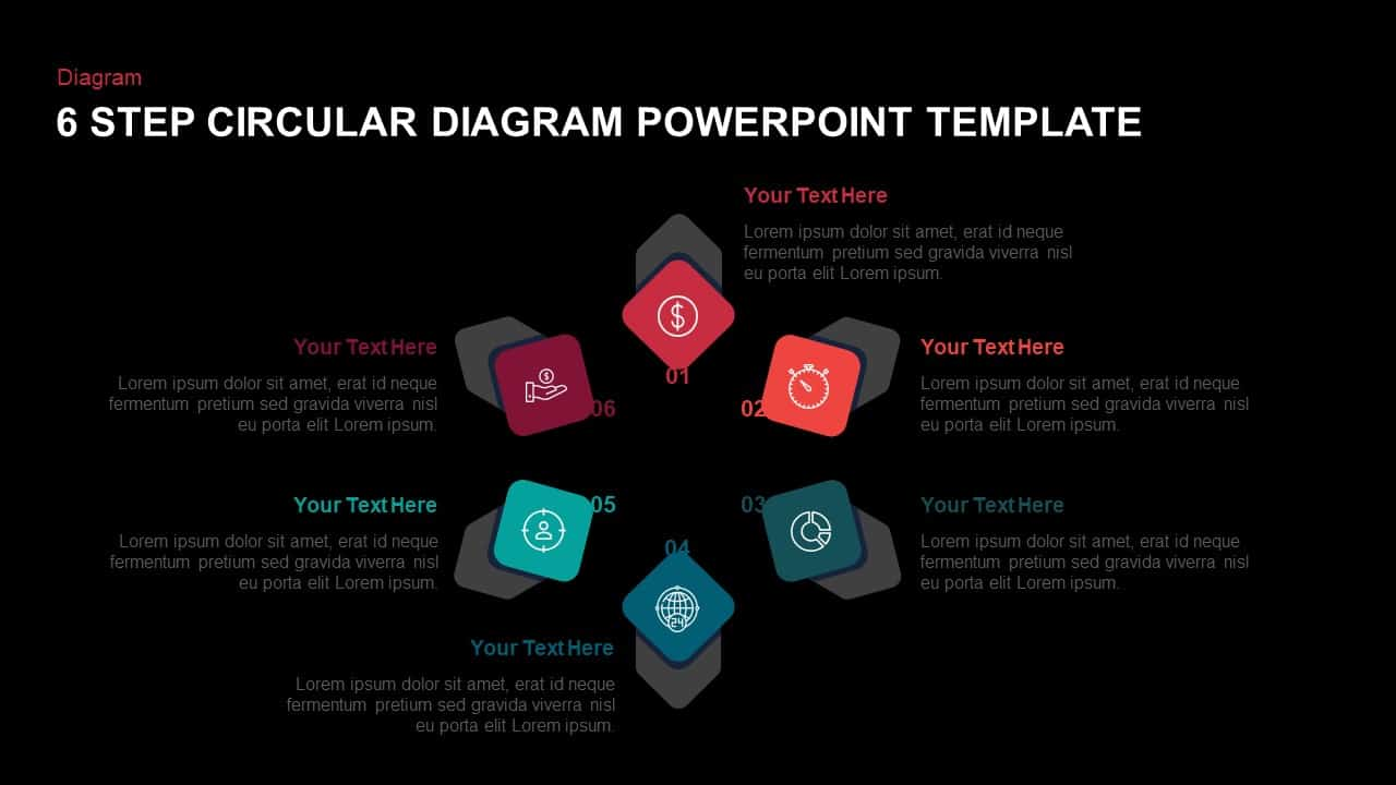 6 Step Circular Diagram Ppt Template